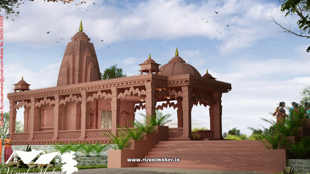 Mandir Designs For Home Outside Temple Architecture Visual