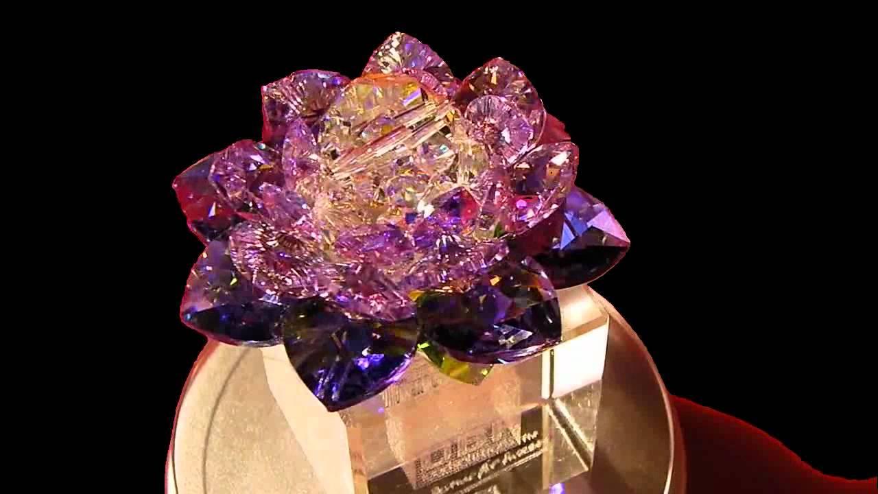 Swarovski Crystal Lotus Flower Purple Youtube