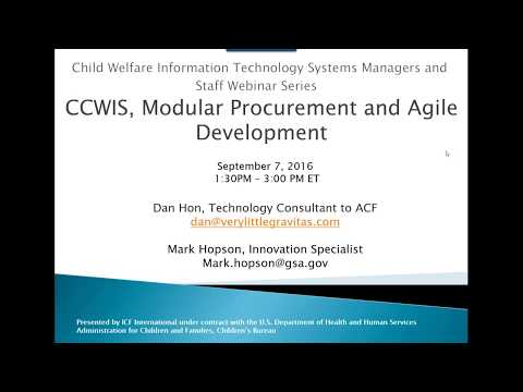Modular Procurement and Agile Development