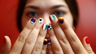 Russian manicurist gets inspiration from World Cup