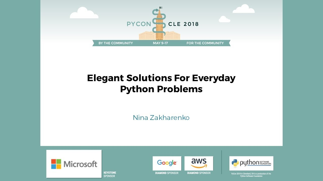 Image from Elegant Solutions For Everyday Python Problems