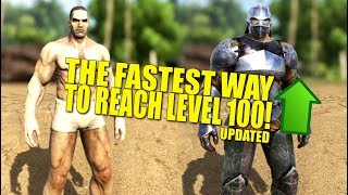 FASTEST WAY TO LEVEL 100! (Updated)(How Not To Be a Noob) - Ark:Survival Evolved