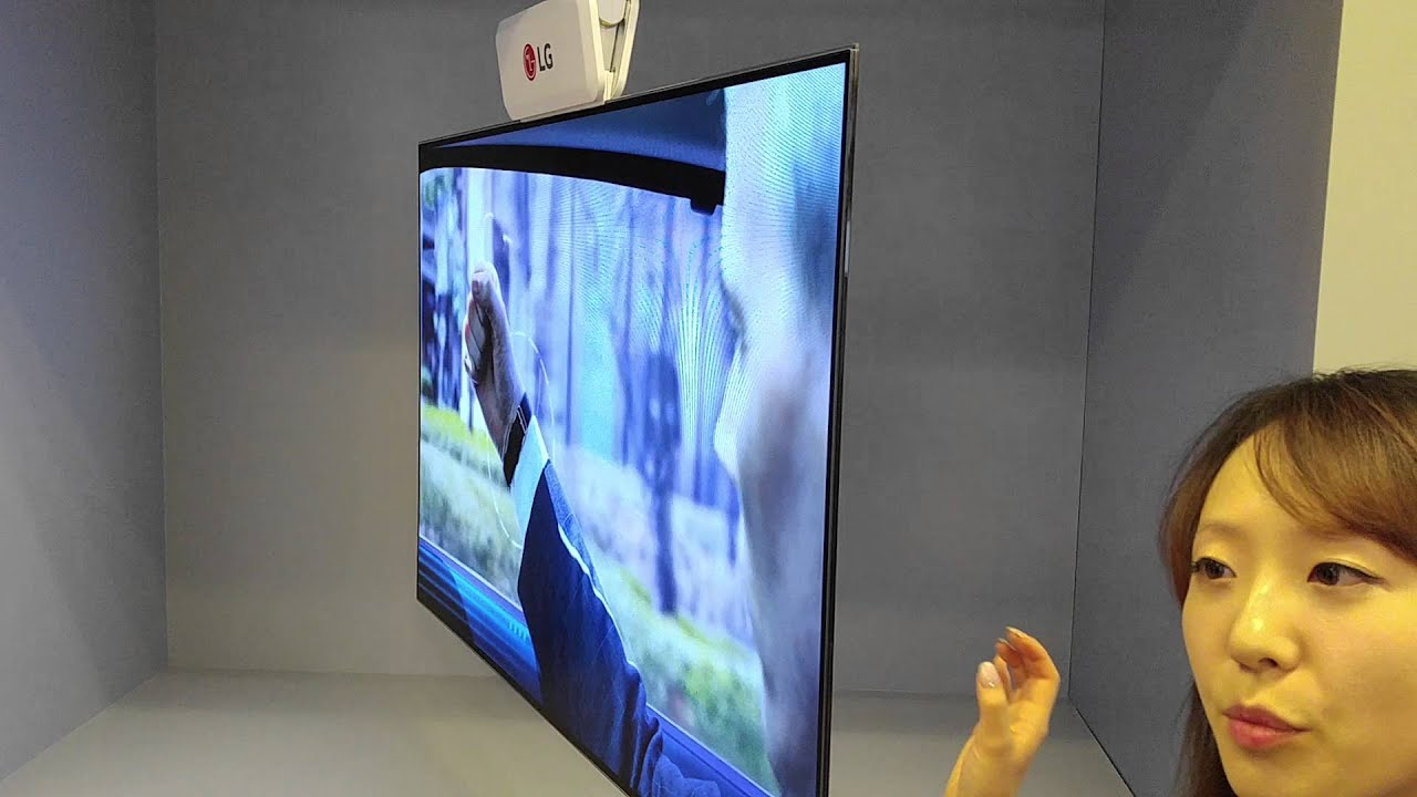 """Razor Side By Side >> LG 55"""" Dual Sided TV at CES 2016 - YouTube"""