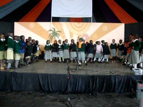 World Hope Academy Grade 1 students perform a song