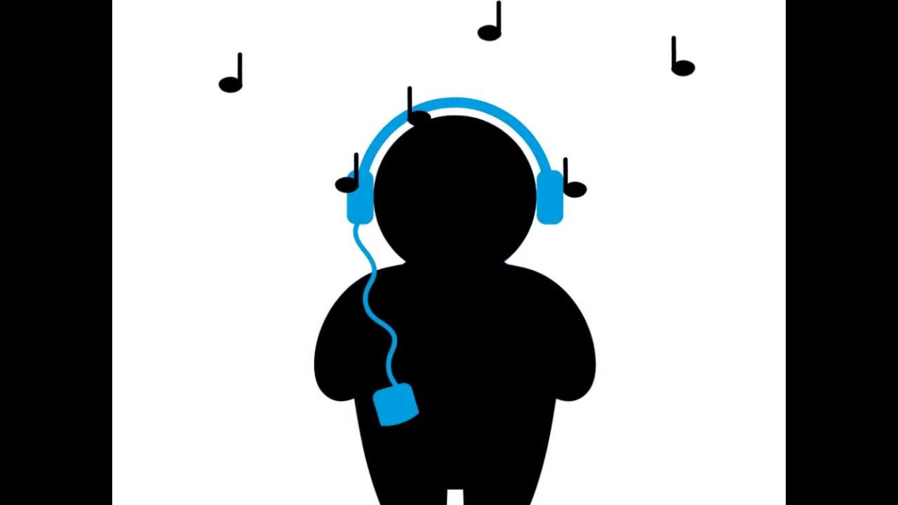 Man Listening Music Animation Youtube