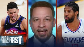 Broussard reveals his pick for Clippers \u0026 Suns' Western Conference Finals | NBA | FIRST THINGS FIRST