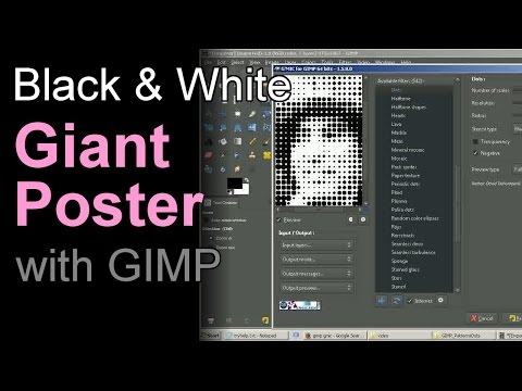 Giant Poster with GIMP