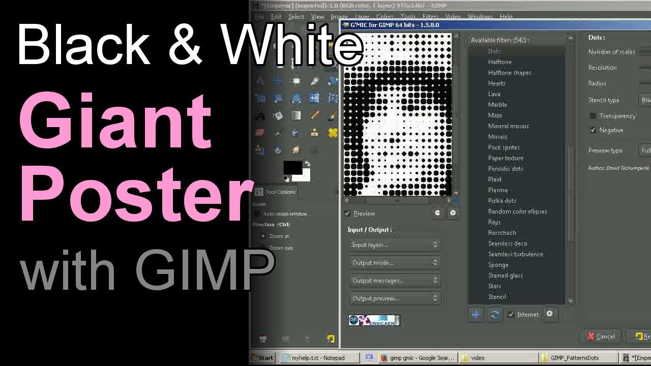 Poster design using gimp - Giant Poster With Gimp