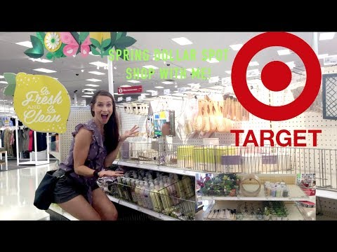 New Spring Target Dollar Spot Shop With Me! Decor + More! Spring 2019 Target Finds!