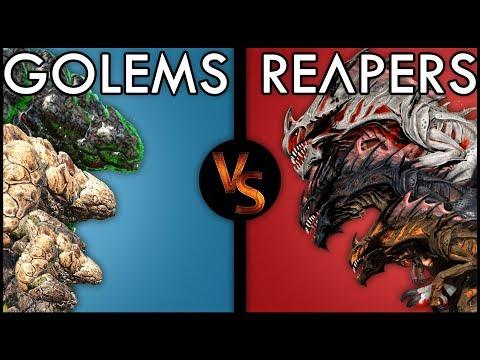 Golems VS Reapers | Ark: Survival Evolved BATTLE
