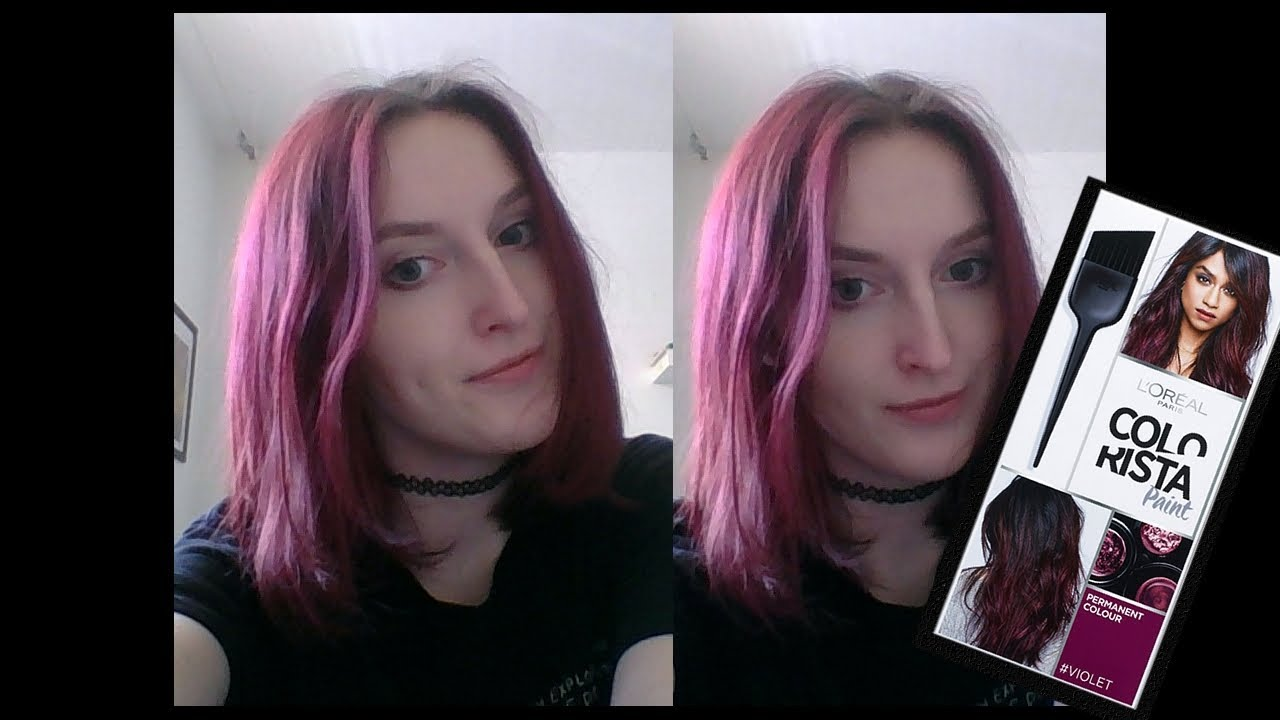 Colorista Paint Violet Before Amp After Youtube