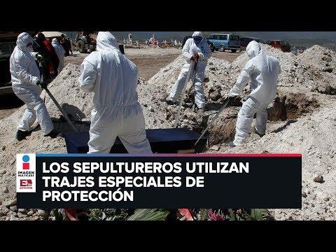 Así entierran en Tijuana a víctimas por coronavirus