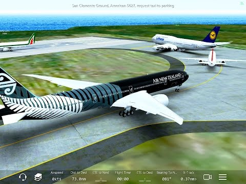 Infinite Flight Boeing 777-300. Multiplayer. ATC. SoCal. KNUC- KSAN