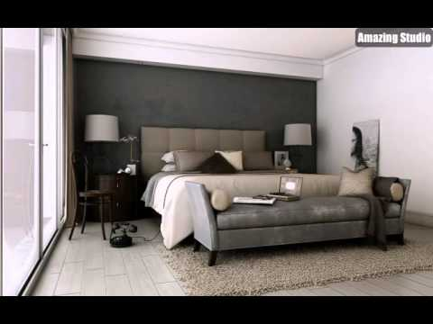 Grau Braun Taupe Sophisticated Schlafzimmer