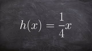 algebra 2 how to find and graph the inverse of a linear function h x 1 4 x