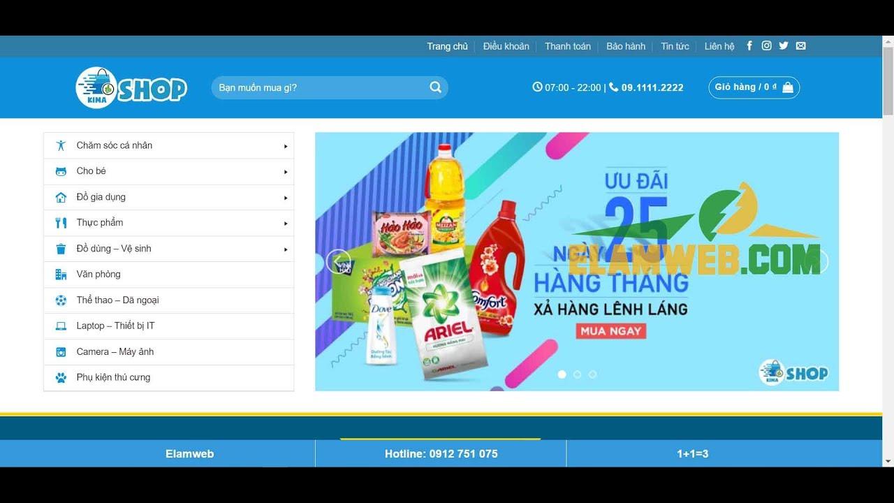 Địa chỉ thiết kế website uy tín – Download miễn phí các giao diện web đẹp tại Elamweb.com