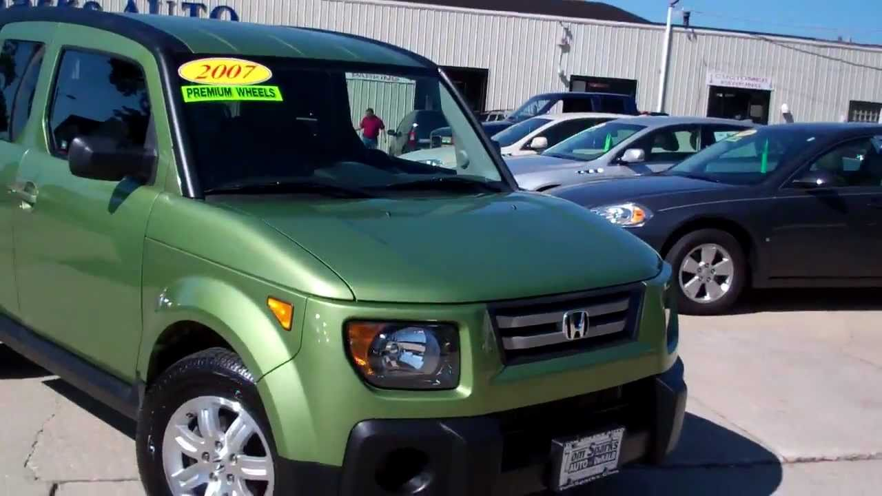 2007 Honda Element Ex 4wd Suv Mean An Green Dekalb Il Near
