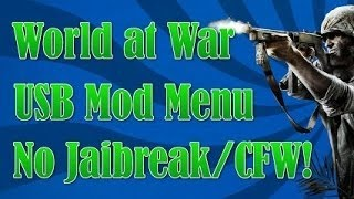 How To Get A USB/CFG Mod Menu For COD: World At War Multiplayer/Zombies (PS3) NO JAILBREAK