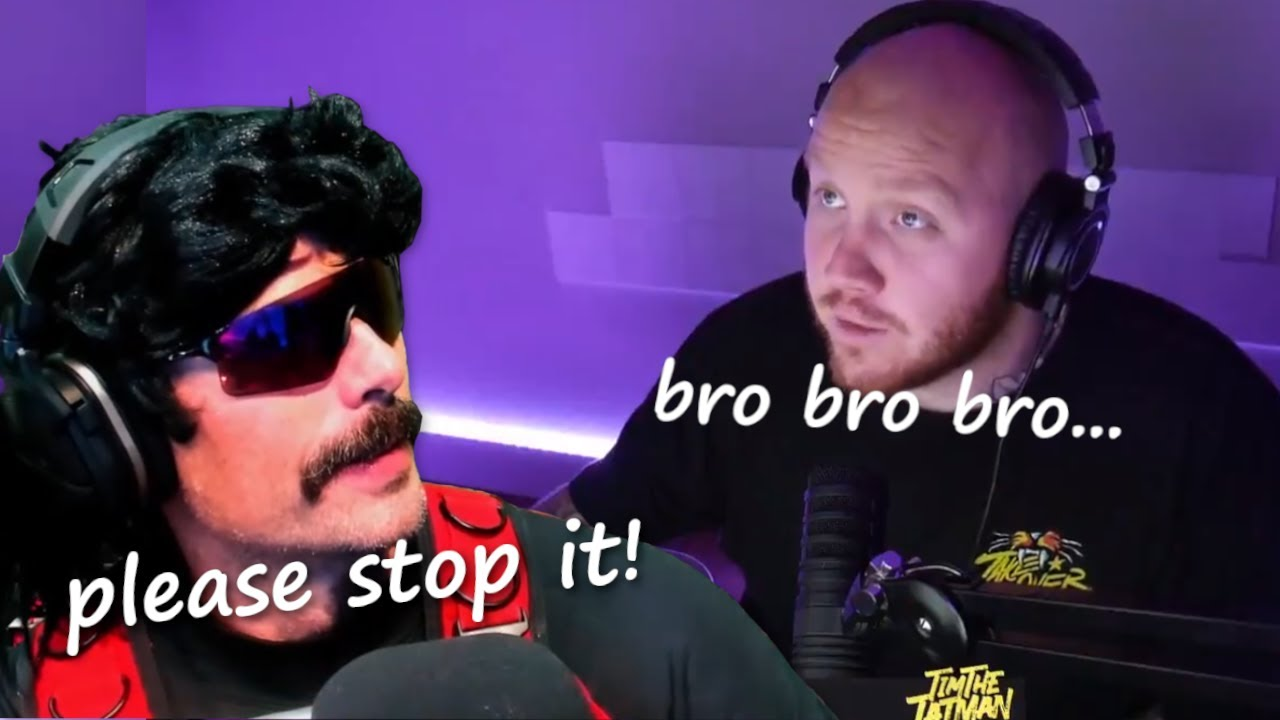 DrDisrespect Reacts to Timthetatman Saying 'Bro' for 1 minute straight.