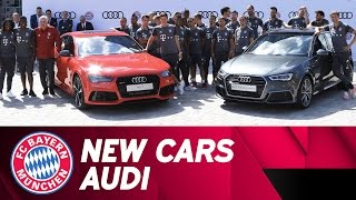 FC Bayern receive new cars | Collection day at Audi