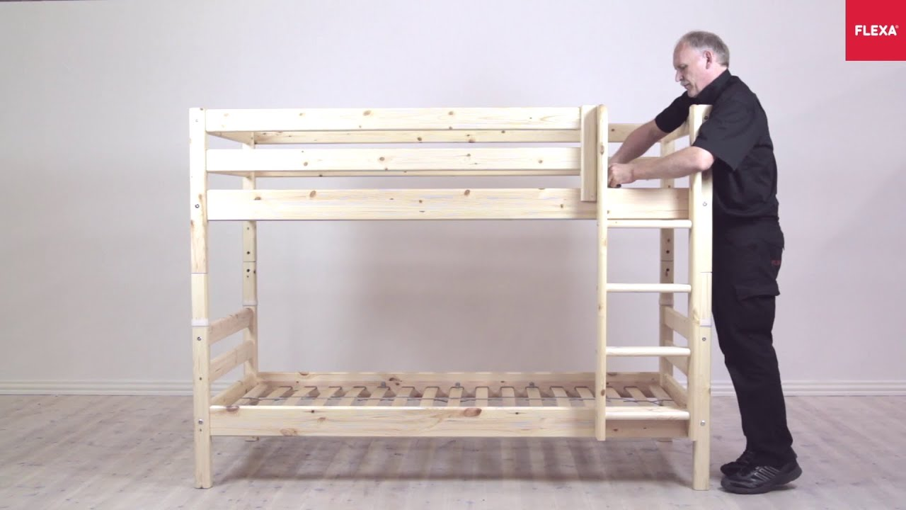 Flexa Classic Bunk Bed With Straight Ladder Assembly