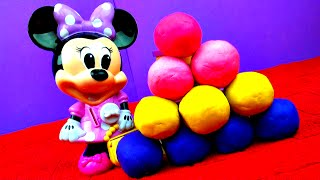 Repeat youtube video Minnie Mouse Play-Doh Surprise Eggs Mickey Mouse Disney Frozen Peppa Pig Cars 2 Toy Story FluffyJet
