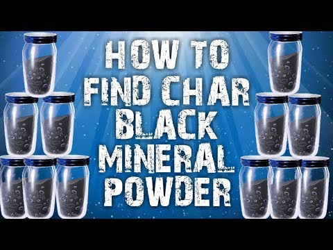 How to find Char Black Mineral Powder Fortnite save the WORLD
