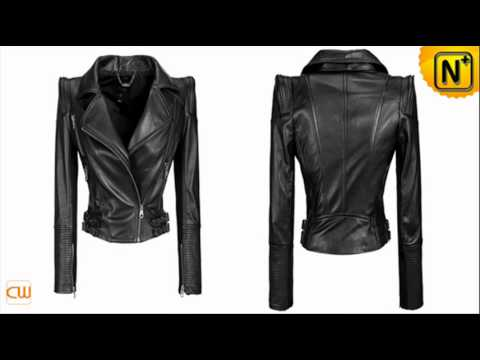 Women Leather Jackets Designer Zipper Pleated Sewing Black Leather ...