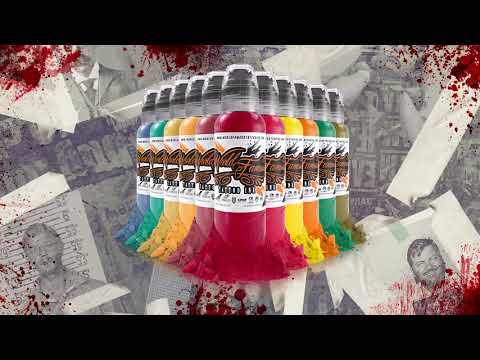 World Famous Tattoo Ink - Jason Ackerman's Serial Killer Colour Ink Set