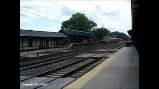 Exclusive: AMTRAK Pennsylvanian Train #43 with P42 #145 in Phase III Paint Scheme 7/14/13