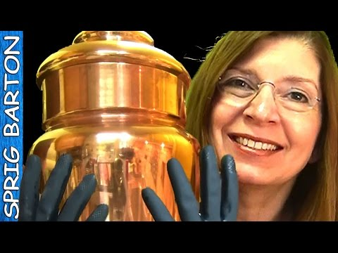 POLISH COPPER WITH LEMON AND SALT - SOOO Easy! How to Clean Copper & Brass:Sprig Barton