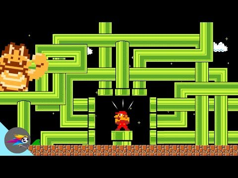 Mario Parody∣ How Will Mario Escape From The Endless Pipe World?