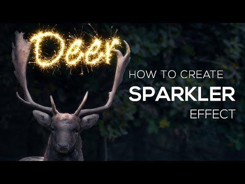Photoshop Tutorial - Realistic Sparkler Photoshop Effect