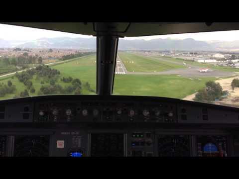 Landing Bogotá - Avianca A321 cockpit