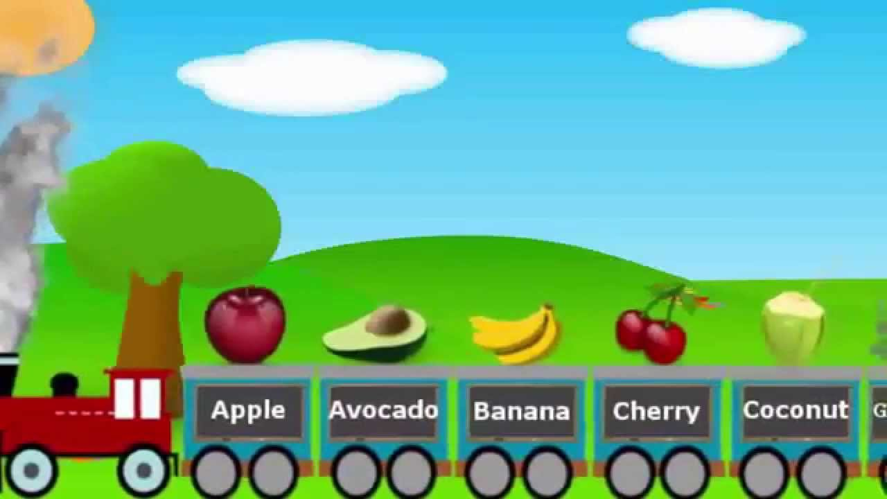 Fruits Train For Children Fruits Song For Toddlers