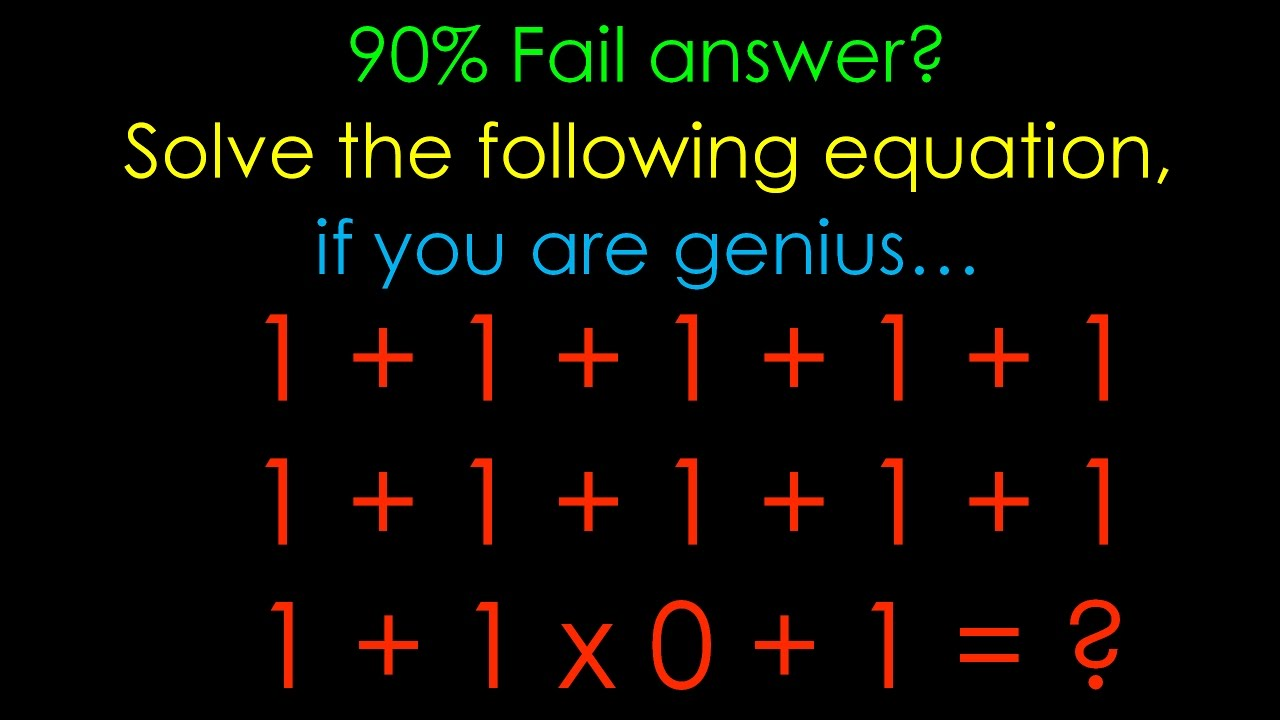 90 Fail To Answer 1 1 1 1 1 1x0 1 Youtube
