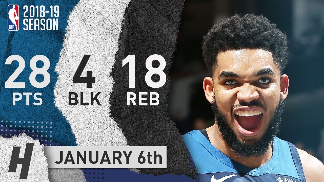 Karl-Anthony Towns Full Highlights Lakers vs Timberwolves 2019.01.06 - 28 Pts, 18 Reb, 4 Blocks!