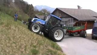 Maschinen Gailer Vorführung des Lenktriebachanhängers