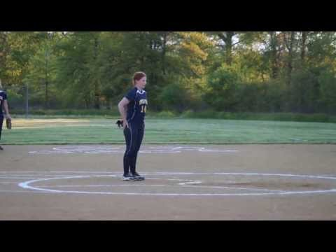 Meagan Quinn Pitching for Upper Perkiomen High School Varsity vs PJP2 2013