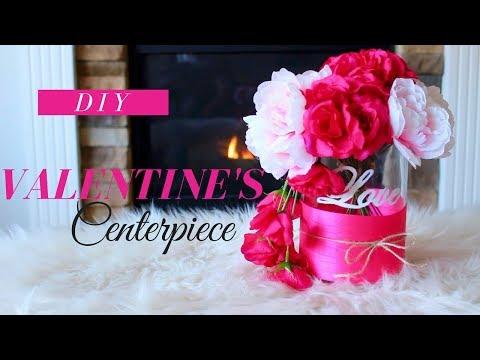 DIY VALENTINE'S DAY CENTERPIECE | ROMANTIC VALENTINE'S DAY CENTERPIECE