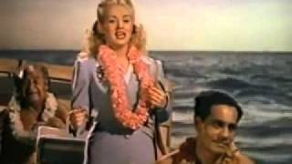 Betty Grable-Sing Me a Song of the Islands With Lyrics