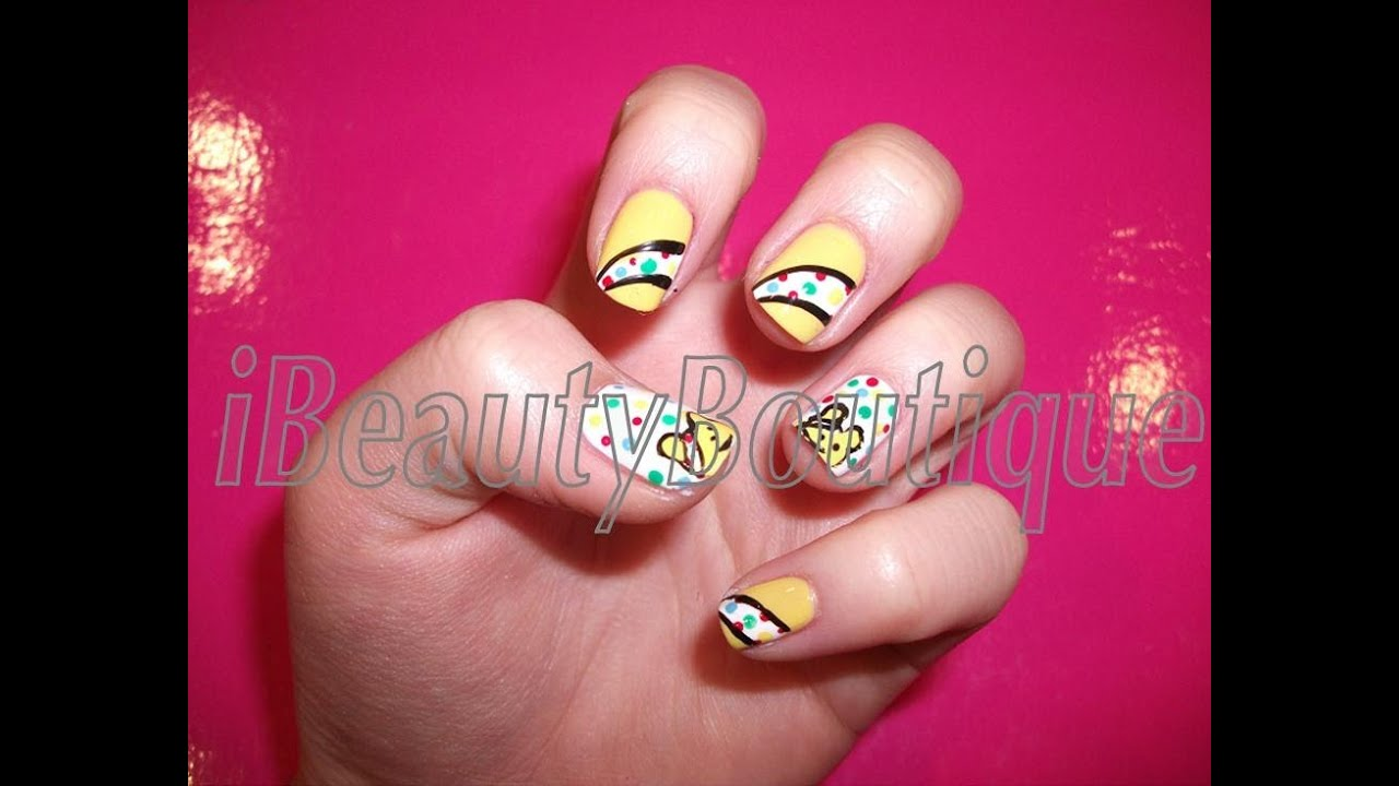 Children In Need Pudsey Bear Nail Art Ibeautyboutique Youtube
