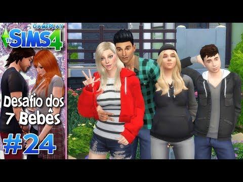 AUTHENTIC, LYDIA, MALENA E SPOK NOS VISITARAM - Desafio dos 7 Bebês #24 - The Sims 4