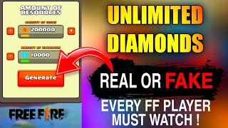 Free Fire Diamond Hack Reality | Free Fire Diamond Generator