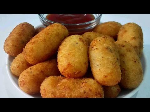 Spicy Potato Nuggets   Easy Party Starter Recipe    Cheesy potato Nuggets
