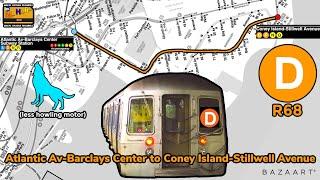 On Board MTA NYC Subway: Coney Island bound R68 (D) train #2674 Atlantic Avenue to Coney Island