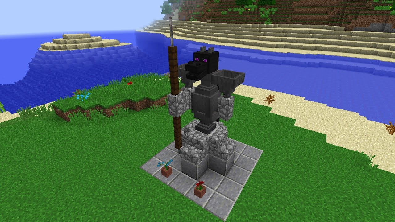 how to build a minecraft statue