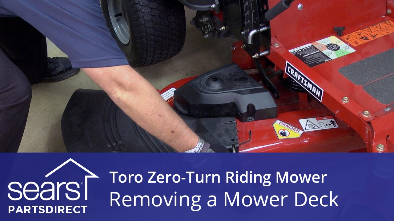 How to Remove the Mower Deck on a Toro Zero Turn Riding