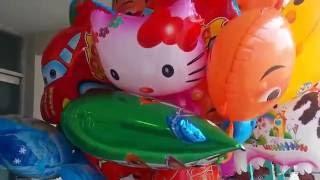 balon pentung karakter tokoh kartun  frozen  hello kiity  upin ipin  nemo dll