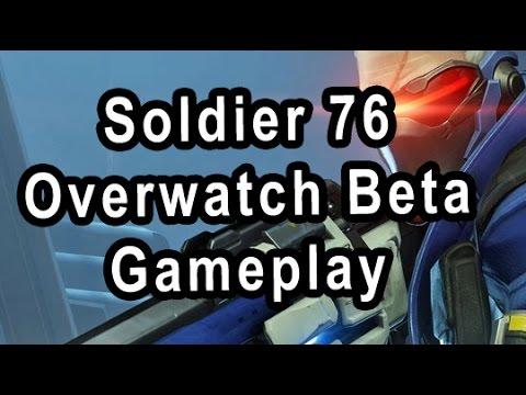 Soldier 76 Overwatch Beta Gameplay (From Stream)